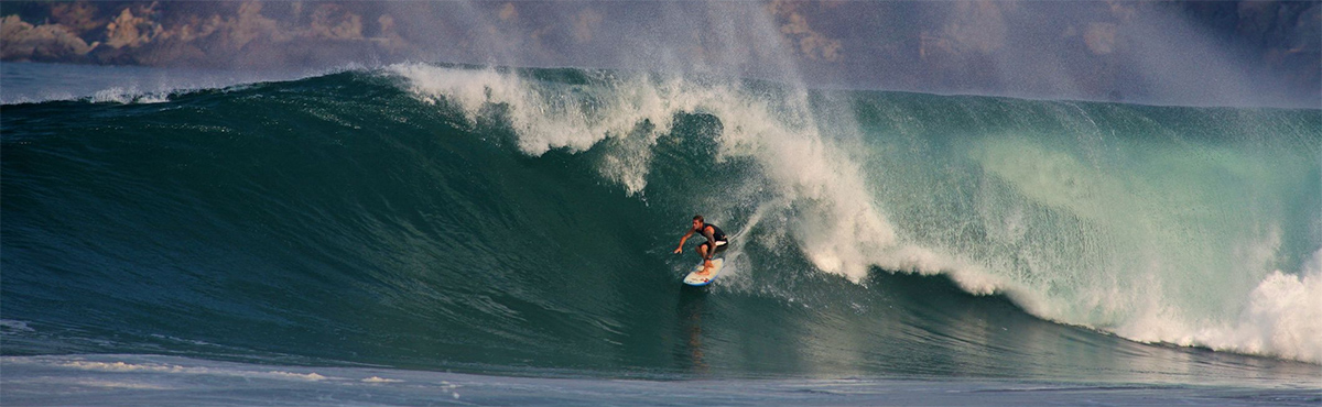 Riding the surf in Rosarito