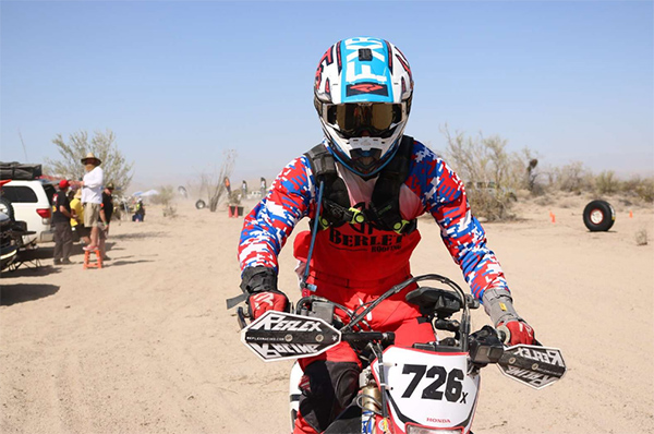 Joey(18) completes San Felipe 250