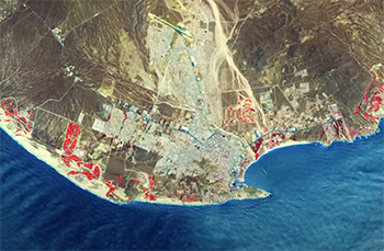 Los Cabos from space